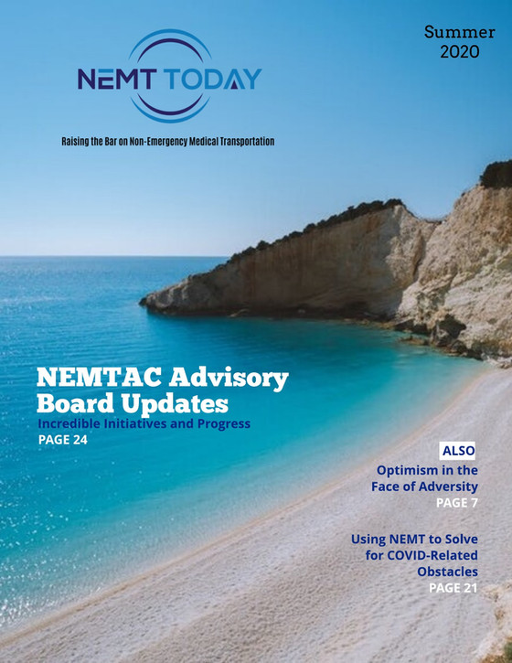 NEMT Today Summer 2020 edition now available! Check it out by clicking the cover photo!