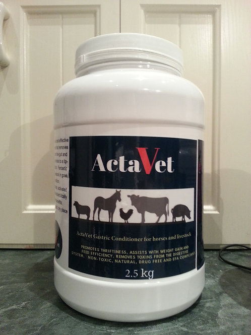 2.5kg ActaVet activated Charcoal for horses, pets and livestock 2.5 kg