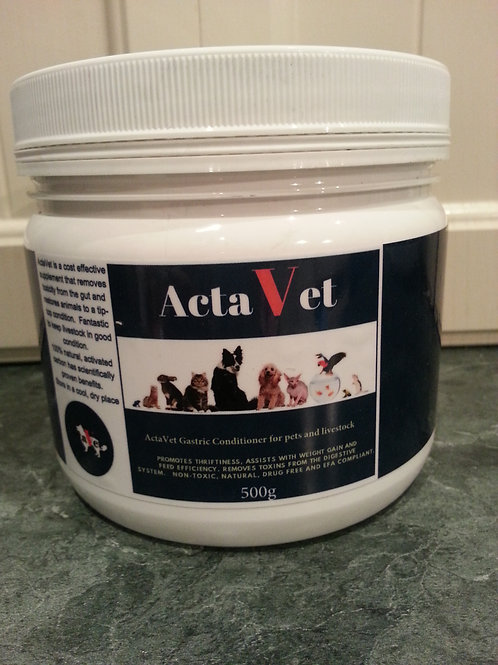 500g ActaVet activated Charcoal for horses, pets and livestock 2.5 kg