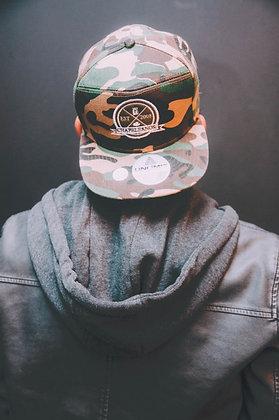Snapback Militar / Verde musgo