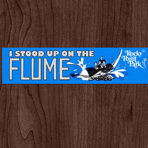 I Stood Up On The Flume Bumper Sticker
