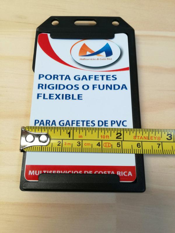 Porta gafetes dobles
