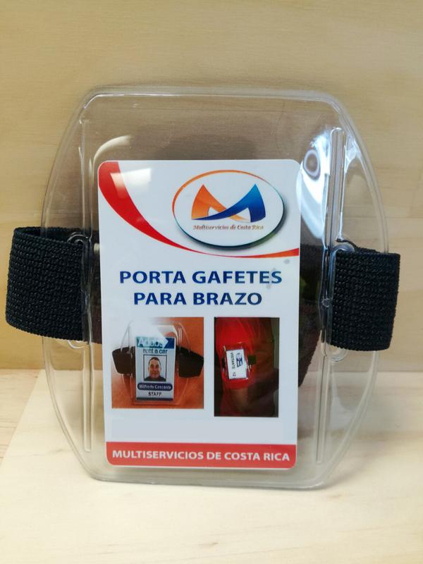 Porta Gafete Brazo Banda Azul