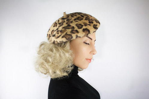 Leopard Fur Beret (Pre-Sale)