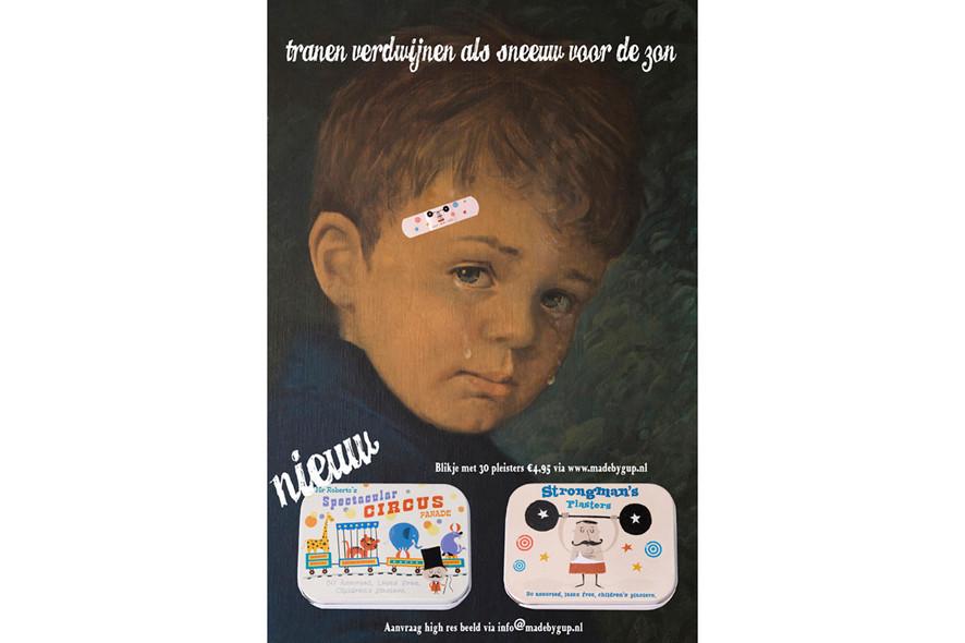 Advertisement plasters