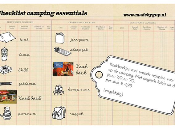 Advertisement camping cookbook