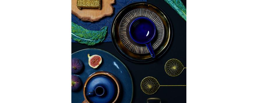 Autumn dish blue