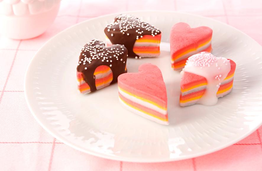 Marzipan hearts (children's treats)