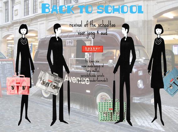Advertisement schoolbag