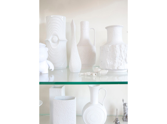 Collection white vases