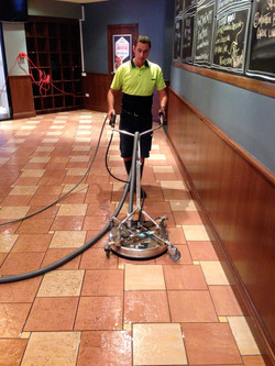 Internal tile cleaning