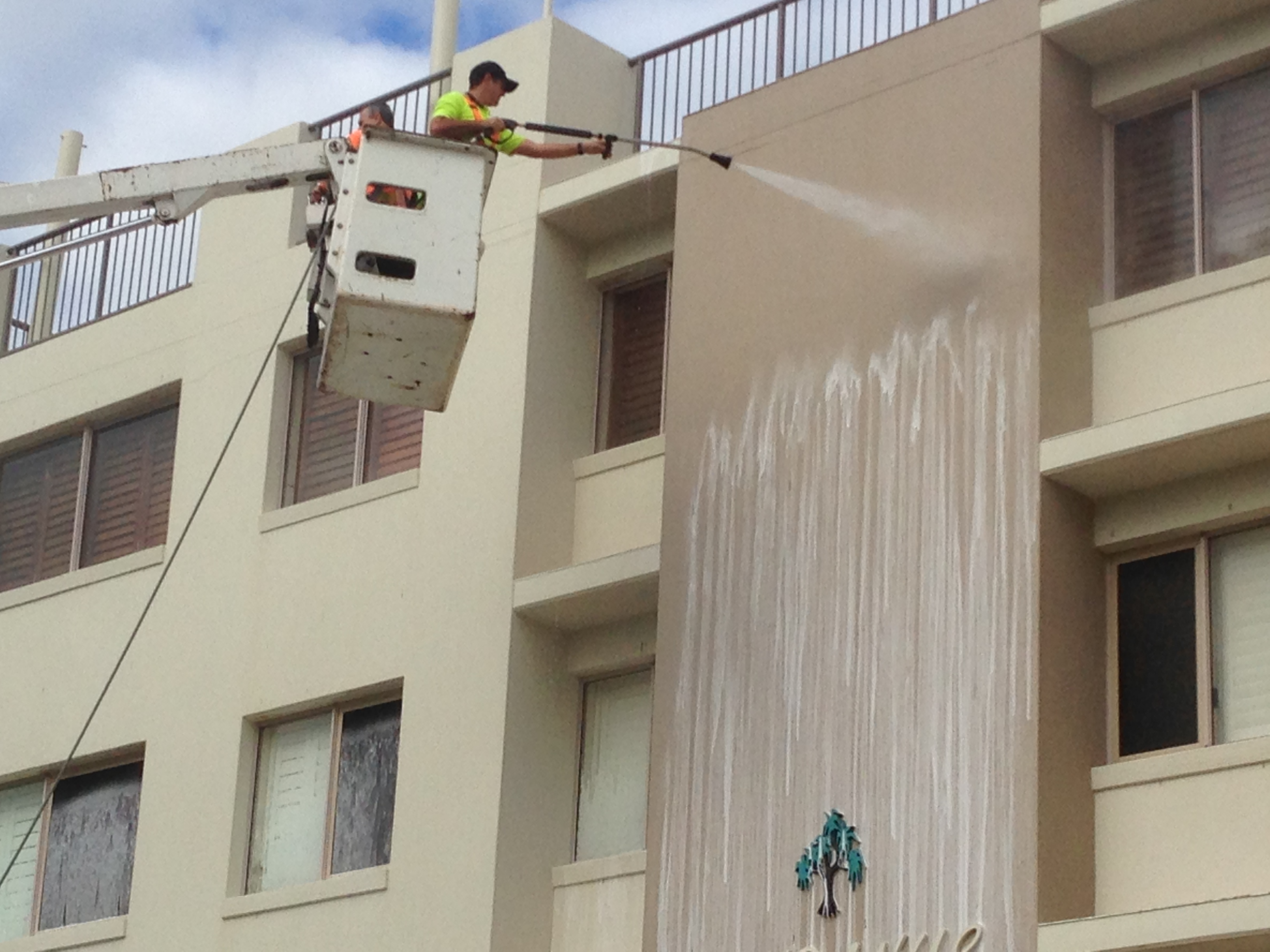 Apartment block wash downs.