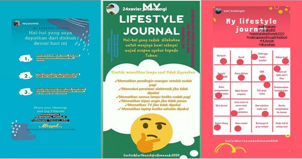 Hasil Lifestyle Journal Siswa - SDH Manado