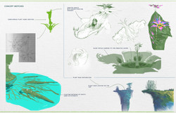 concept sketches plant