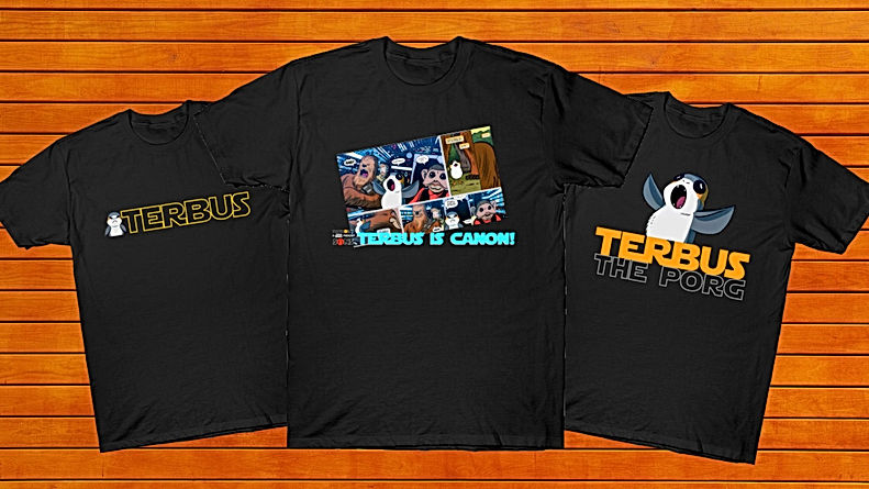 Terbus the Porg T Shirts!