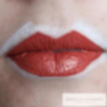 kartlegging av leppene før blush tatover