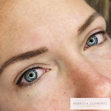 helbredet combo-bryn og nye tatovert eye