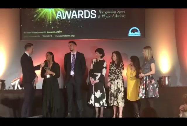 Interview at Wandsworth Active Awards 2020