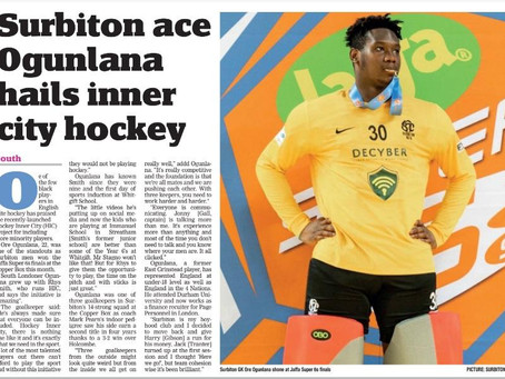 """Surbiton ace Ogunlana hails inner city hockey"""