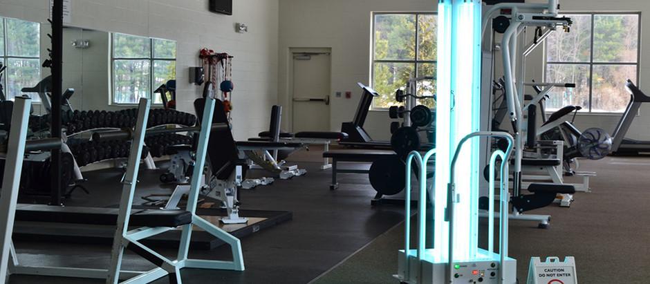 UV-C Light Sterilization For Fitness Centers
