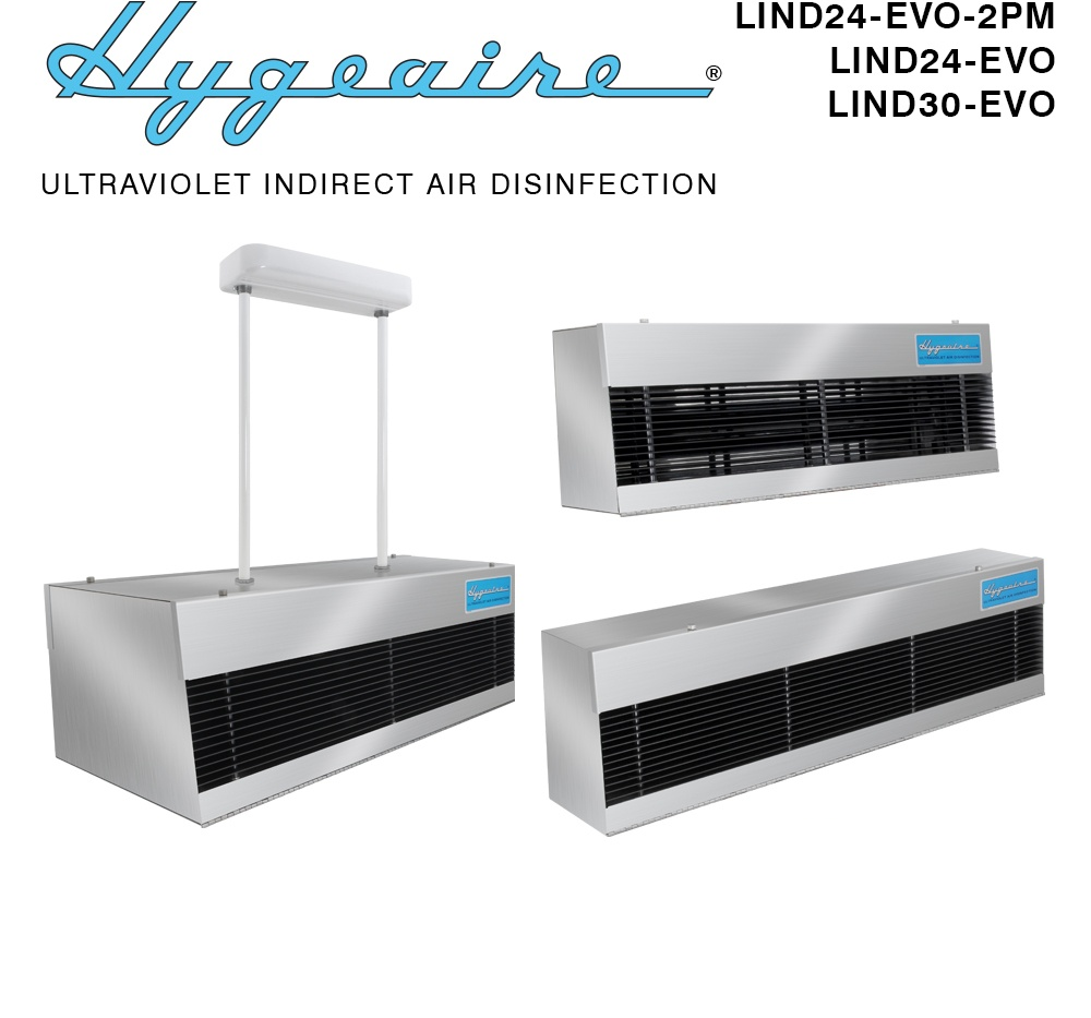 Hygeaire upper room air disinfection fixtures