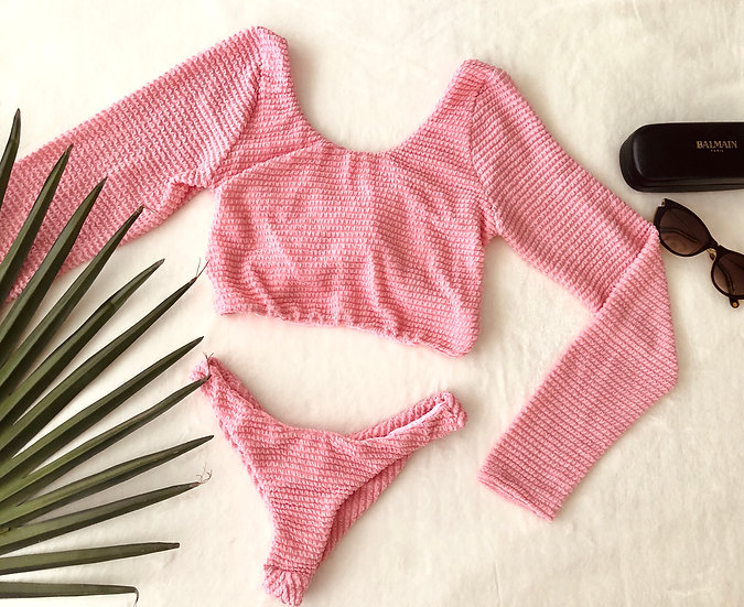 Kara Top in Candy Pink with Monaco Knit