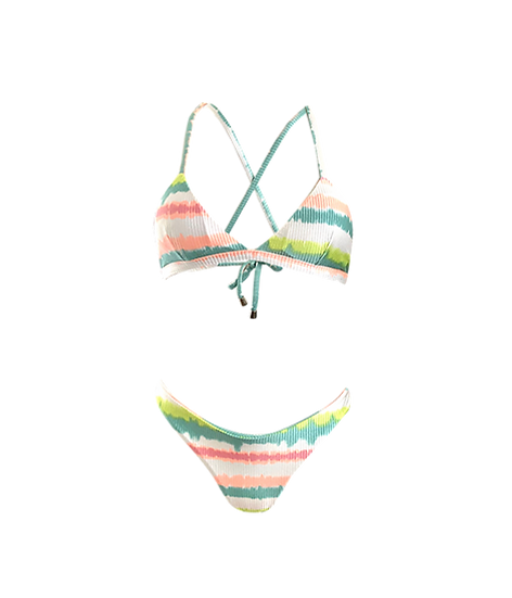 Rio Top Mint Tye Dye with Rib Texture