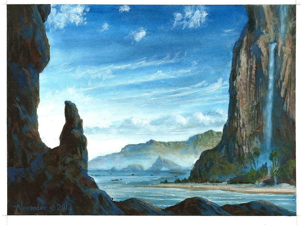 Island (Theros), by Rob Alexander, owned by Wizards of the Coast © All Rights Reserved.