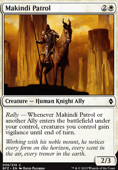Example of creatures with Rally.