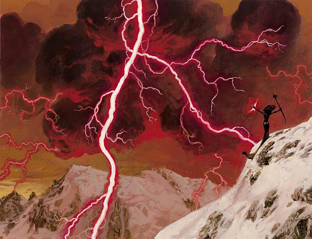 Lightning Bolt, by Christopher Moeller, owned by Wizards of the Coast © All Rights Reserved.