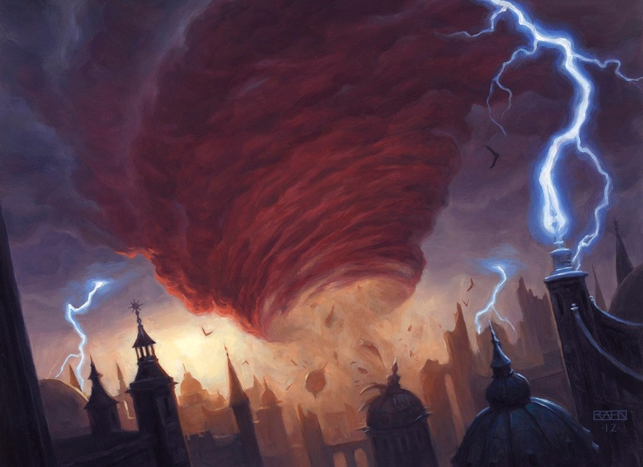 Cyclonic Rift, by Chris Rahn, owned by Wizards of the Coast © All Rights Reserved.