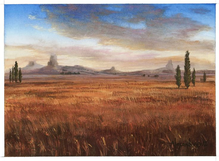 Plains (Theros), by Rob Alexander, owned by Wizards of the Coast © All Rights Reserved.