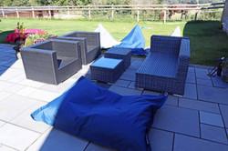 Outdoor furniture rattan outdoor beanbags