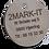 TAG Mærke - TAG skilt - Stål - Rund - Opmærkning -  Valgfri tekst- Logo