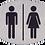 Stålskilt - Toiletskilt - Rustfri - 316 - Gravering