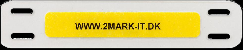 Kabelmærke - kabelskilt - Fuldsvejset - Opmærkning - Valgfri tekst - Gul - Hvid