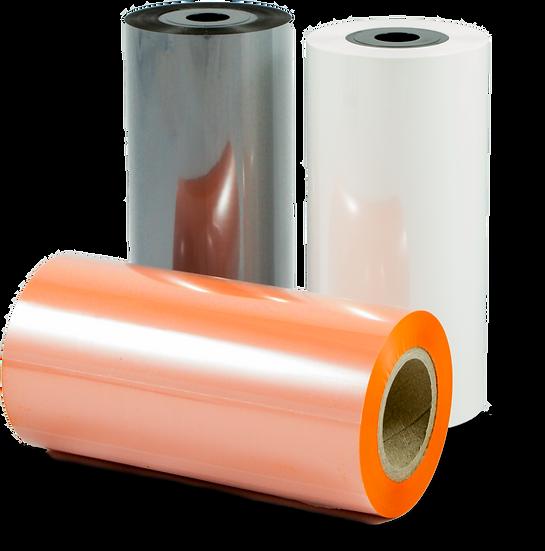 Farvebånd til Termoprinter - Labelmax - Sort - Hvid - Orange - Blå - Rød