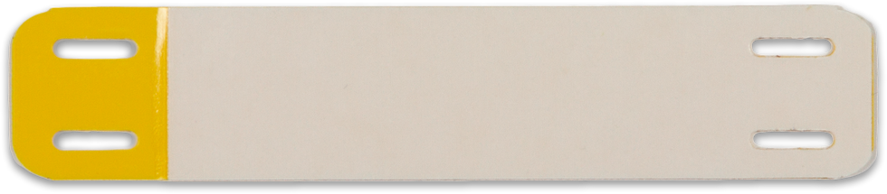 Kabelmærke - Kabelskilt - Selvlaminerende - Opmærkning - Gul - Hvid