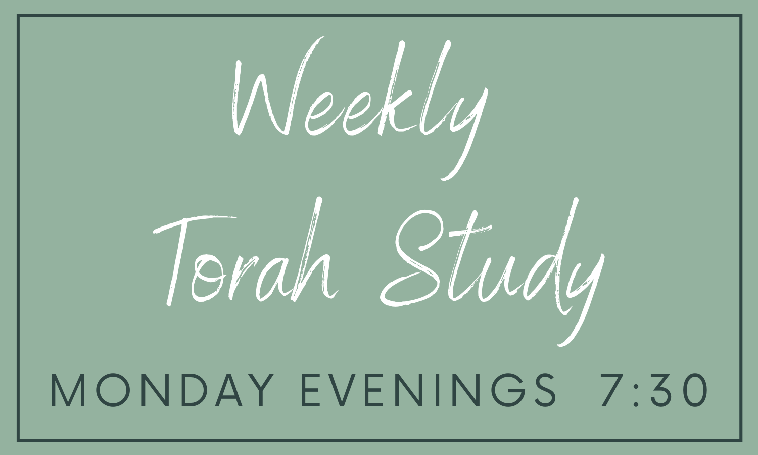 Copy of Copy of Weekly Torah  Study