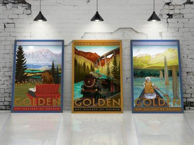 art-gallery-of-golden-posters-summer