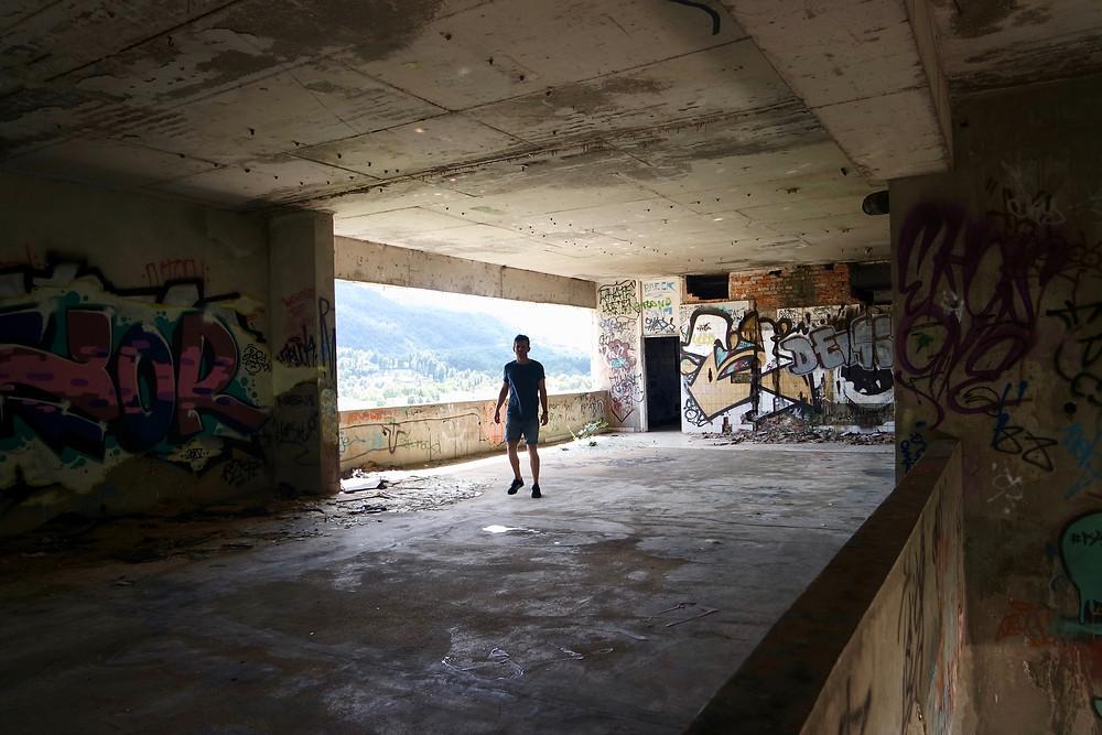 Urban Exploration Mostar Sniper Tower Graffiti