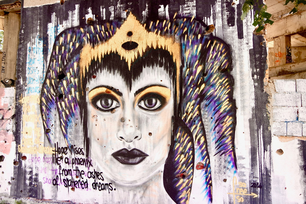 Explore political graffiti at Sniper Tower, Mostar