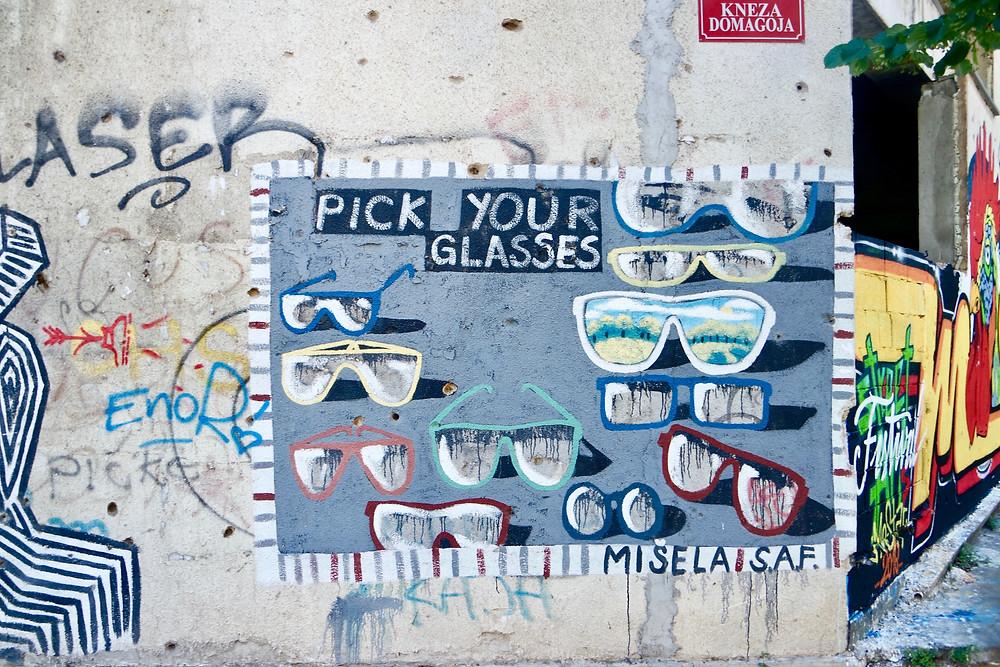 Urban Exploration Mostar, Sniper Tower Graffiti