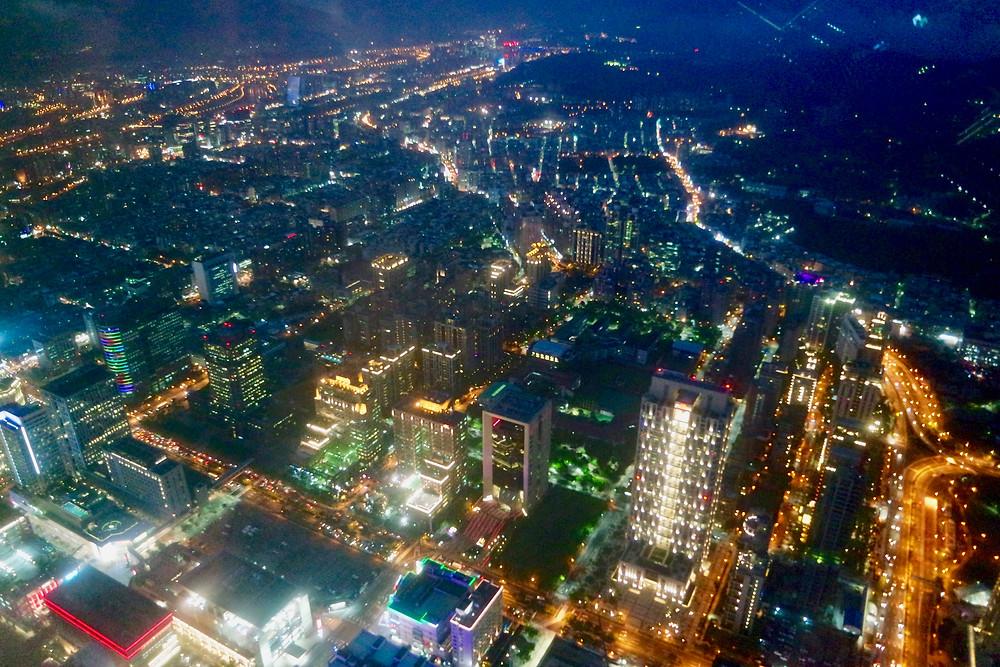 Best night view of Taipei at Taipei 101 臺北101 / 台北101
