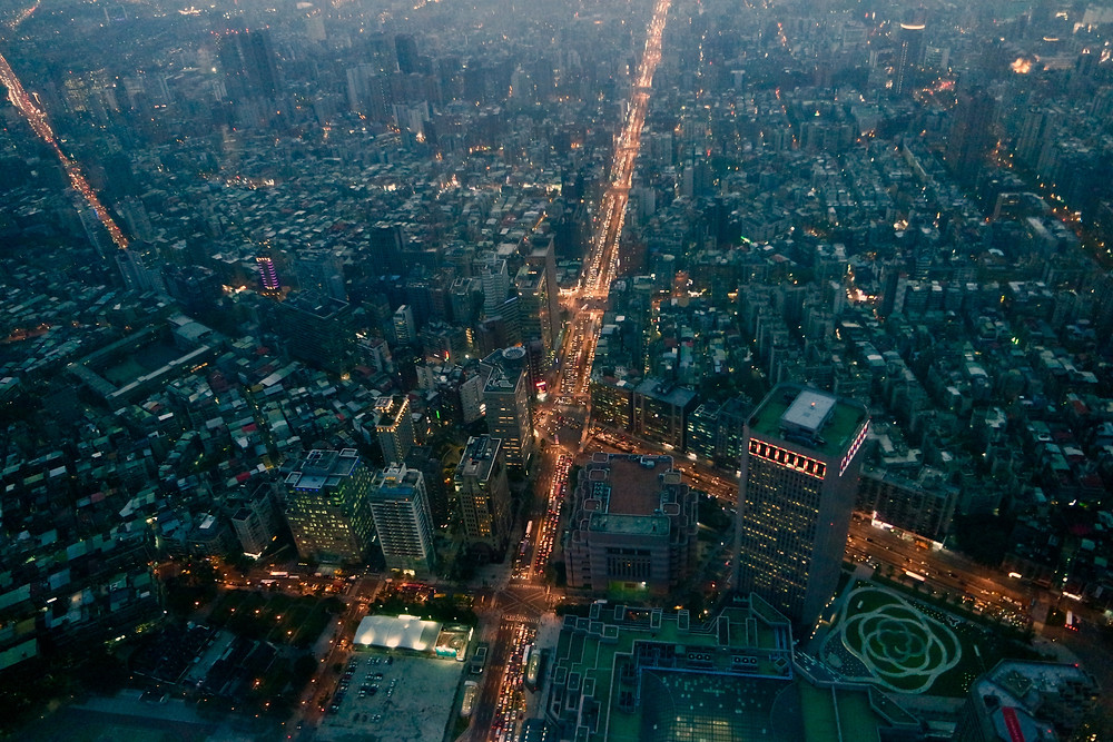 The best view of Taipei is from the observatory deck at Taipei 101