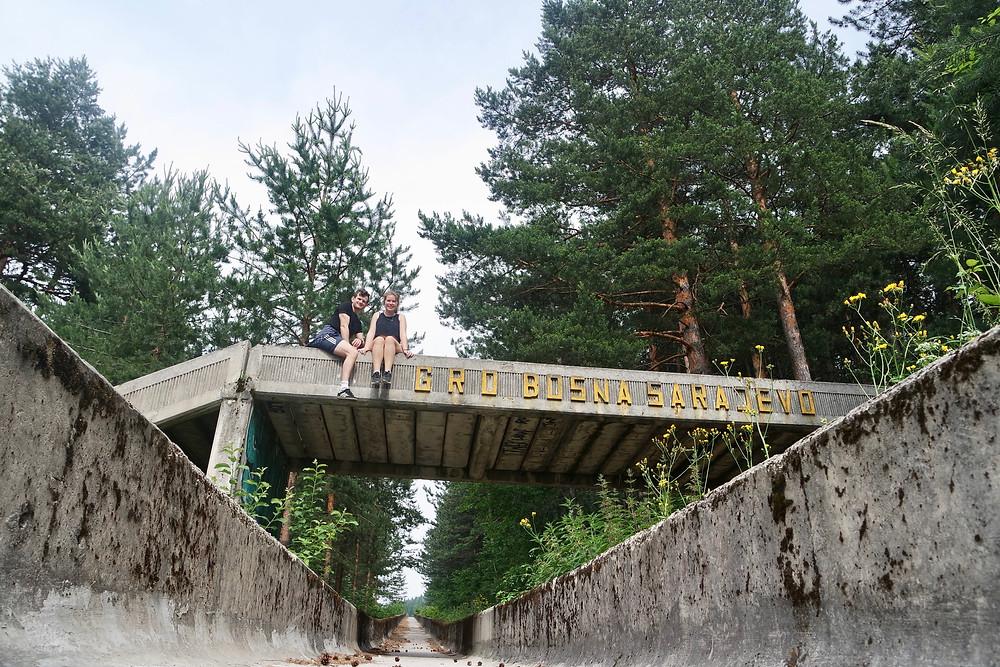 Bosnia and Herzegovina, Sarajevo, Urban Exploration abandoned bobsleigh track