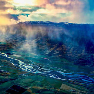 aerial photography from helicopter