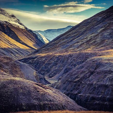 Ravine Drive East of Akureyri Iceland
