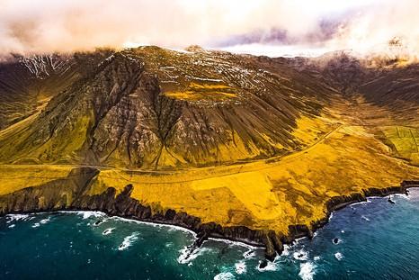 Flight over North Iceland Dramatic Coastline