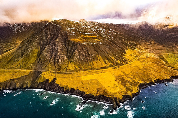 Flight over North Iceland Dramatic Coastline